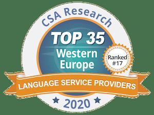 Classement européen des entreprises de traduction, IPAC et le Groupe Tradutec au 17e rang